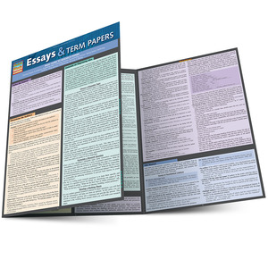 QuickStudy Quick Study Essay & Term Papers Study Guide BarCharts Publishing Language Arts Education Guide Main Image