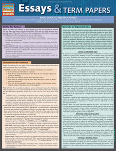 QuickStudy | Essays & Term Papers Laminated Study Guide