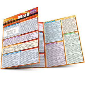 QuickStudy | Common Core: Math 6th - 8th Grade Laminated Study Guide