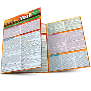 QuickStudy | Common Core: Math 9th - 12th Grade Laminated Study Guide