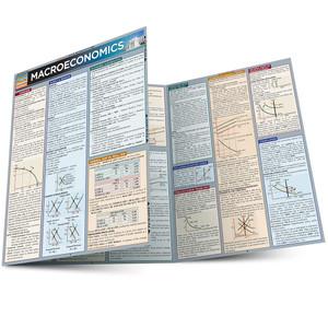 QuickStudy Quick Study Macroeconomics Laminated Study Guide BarCharts Publishing Edu Reference Guide Main Image