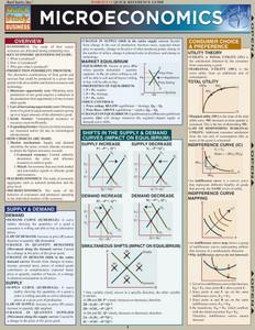 QuickStudy Quick Study Microeconomics Laminated Study Guide BarCharts Publishing Business Economics Cover Image