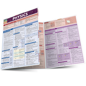Quick Study QuickStudy Physics Laminated Study Guide BarCharts Publishing Physics Reference Guide Main Image