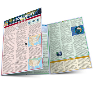 Quick Study QuickStudy Geography Laminated Study Guide BarCharts Publishing Science Edu Study Guide Main Image
