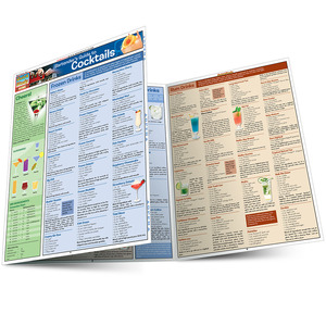Quick Study QuickStudy Bartender'S Guide To Cocktails Laminated Reference Guide BarCharts Publishing Lifestyle Reference Main Image