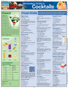 Quick Study QuickStudy Bartender'S Guide To Cocktails Laminated Reference Guide BarCharts Publishing Lifestyle Reference Cover Image