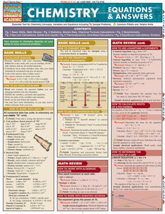 QuickStudy | Chemistry: Equations & Answers Laminated Study Guide