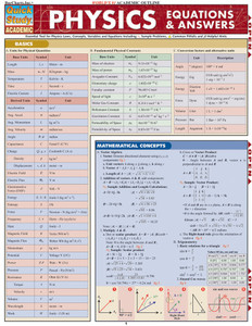 QuickStudy | Physics: Equations & Answers Laminated Study Guide