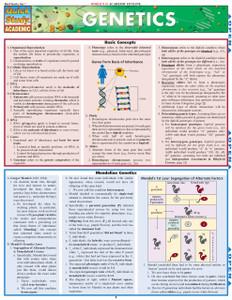 QuickStudy | Genetics Laminated Study Guide