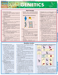 Quick Study QuickStudy Genetics Laminated Study Guide BarCharts Publishing Science Reference Guide Cover Image