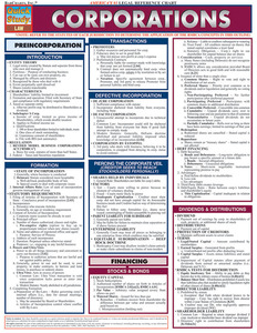 QuickStudy | Corporations Laminated Reference Guide