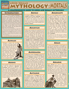 Quick Study QuickStudy Mythology: Greek/Roman Mortals Laminated Study Guide BarCharts Publishing Ancient History Reference Cover Image