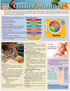 Quick Study QuickStudy Children's Nutrition Laminated Reference Guide BarCharts Publishing Health & Lifestyle Guide Cover Image