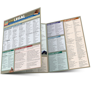 Quick Study QuickStudy Spanish Legal Conversation Laminated Study Guide BarCharts Publishing Foreign Language Law Reference Main Image