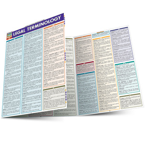 QuickStudy Quick Study Legal Terminology Laminated Study Guide BarCharts Publishing Reference Guide Main Image