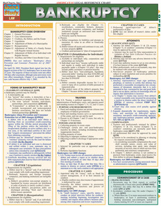 Quick Study QuickStudy Bankruptcy Laminated Reference Guide BarCharts Publishing Law Study Guide Cover Image