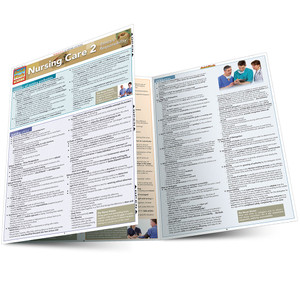 Quick Study QuickStudy Nursing Care 2: Ethics & Responsibility Laminated Study Guide Medical Reference Guide Main Image