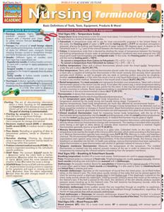 QuickStudy | Nursing Terminology Laminated Study Guide