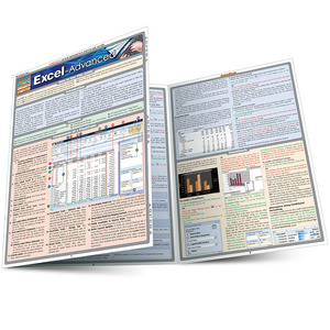 Quick Study QuickStudy Excel Advanced Laminated Reference Guide BarCharts Publishing Business Software Reference Main Image