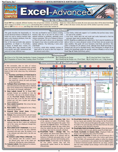 Quick Study QuickStudy Excel Advanced Laminated Reference Guide BarCharts Publishing Business Software Reference Cover Image