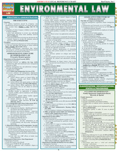 QuickStudy | Environmental Law Laminated Reference Guide
