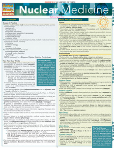 QuickStudy | Nuclear Medicine Laminated Study Guide