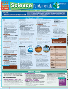 QuickStudy | Science Fundamentals 5: Environmental Science Laminated Study Guide