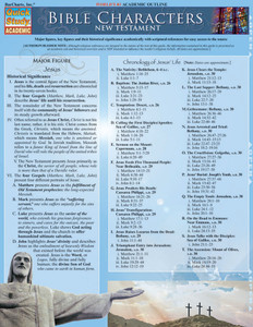 Quick Study QuickStudy Bible Characters: New Testament Laminated Study Guide BarCharts Publishing Religious Studies Reference Cover Image