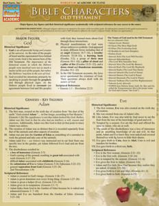 QuickStudy | Bible Characters: Old Testament Laminated Study Guide