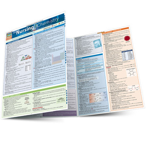 Quick Study QuickStudy Nursing Chemistry Laminated Study Guide BarCharts Publishing Chemistry Academic Medical Reference Guide Main Image
