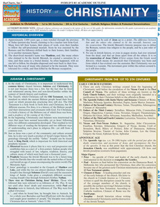 QuickStudy | History of Christianity Laminated Study Guide