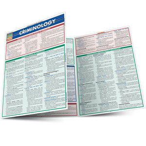Quick Study QuickStudy Criminology Laminated Reference Guide BarCharts Publishing Academic Legal Education Main Image