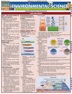 Quick Study QuickStudy Environmental Science Laminated Study Guide BarCharts Publishing Science Reference Cover Image