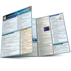Quick Study QuickStudy International Business Laminated Study Guide BarCharts Publishing Career Reference Main Image
