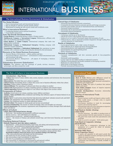 QuickStudy | International Business Laminated Reference Guide