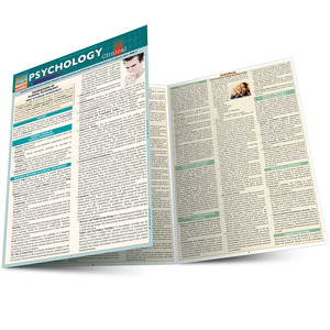 Quick Study QuickStudy Psychology: Clinical Laminated Study Guide BarCharts Publishing Science Guide Main Image