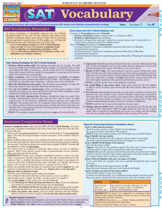 Quick Study QuickStudy SAT: Vocabulary Laminated Study Guide BarCharts Publishing Language Arts Academic Reference Cover Image