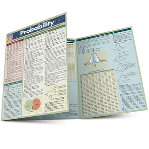 QuickStudy Quick Study Probability Laminated Study Guide BarCharts Publishing Math Reference Guide Main Image