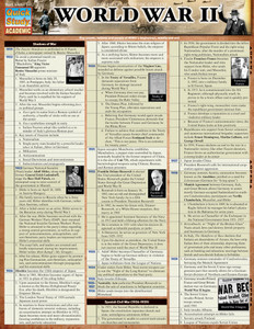 Quick Study QuickStudy World War 2 Laminated Study Guide BarCharts Publishing World Historical Guide Cover Image