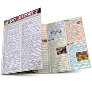 Quick Study QuickStudy Art History 2 Laminated Study Guide BarCharts Publishing History of Art Guide Main Image