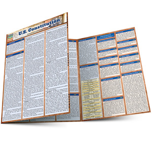 QuickStudy Quick Study US Constitution Laminated Study Guide BarCharts Publishing Reference Guide Main Image
