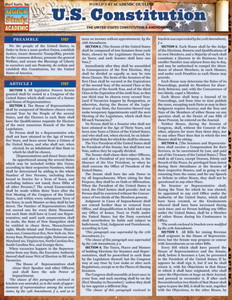 QuickStudy | U.S. Constitution Laminated Study Guide