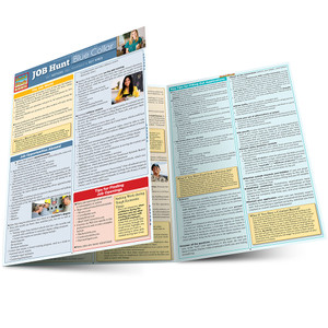 Quick Study QuickStudy Job Hunt: Blue Collar Laminated Reference Guide BarCharts Publishing Career Outline Main Image