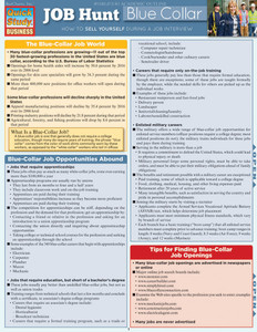 Quick Study QuickStudy Job Hunt: Blue Collar Laminated Reference Guide BarCharts Publishing Career Outline Cover Image