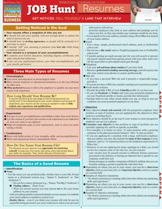 Quick Study QuickStudy Job Hunt: Resumes Laminated Study Guide BarCharts Publishing Business Guide Cover Image