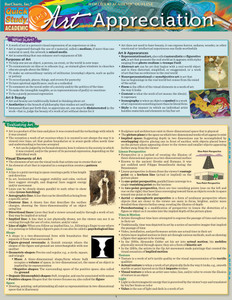 Quick Study QuickStudy Art Appreciation Laminated Study Guide BarCharts Publishing Arts Study Guide Cover Image