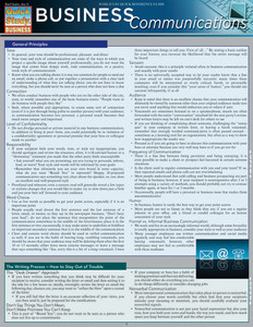 Quick Study QuickStudy Business Communications Laminated Study Guide BarCharts Publishing Career Education Cover Image