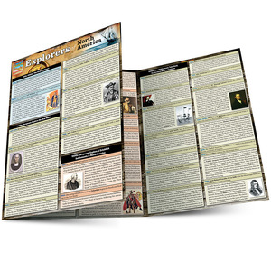 Quick Study QuickStudy Explorers Of North America Laminated Study Guide BarCharts Publishing American History Reference Main Image