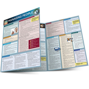 Quick Study QuickStudy Managing People Laminated Reference Guide BarCharts Publishing Business Guide Main Image