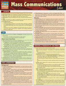 QuickStudy | Mass Communications Law Laminated Reference Guide